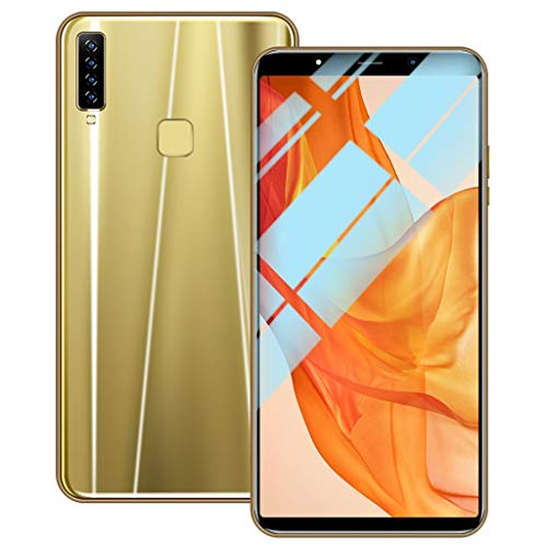 Unlocked Cell Phone, Eight Cores 6.1 inch 16GB Dual SIM Full Screen Smartphone Android 8.1 Dual HD Camera 3G Mobile Phone (Gold, A9)