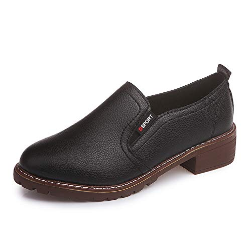 Qiusa couleur Taille Noir Noir Shoes 39 Eu SSqrFx7Ow1