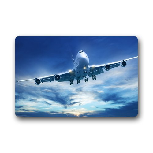 Price comparison product image Pingshoes Custom Machine-Washable Door Mat Airplane On The White Clouds Indoor / Outdoor Doormat