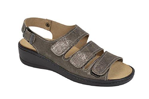 Weeger Sandale 15331 - Sandalias Beige Metálico