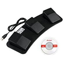 Lemo 1640835 PC USB Foot Control Keyboard Action Switch Pedal HID