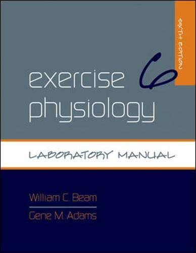 Exercise Physiology Laboratory Manual