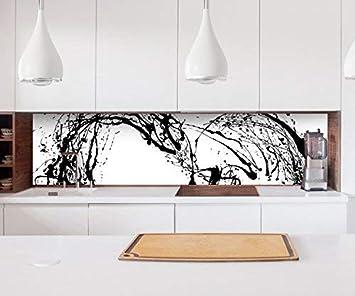 Aufkleber Küchenrückwand Herz schwarz Tinte abstrakte Kunst Liebe ...
