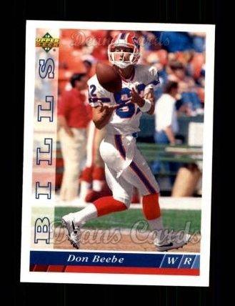1993 Upper Deck # 468 Don Beebe Buffalo Bills (Football Card) Dean's Cards 8 - NM/MT Bills
