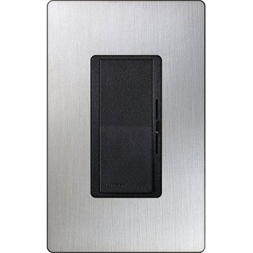 Lutron Electronics DV-600PHW-BLSS Single Pole Incandescent Dimmer, 600-watt, Black ()