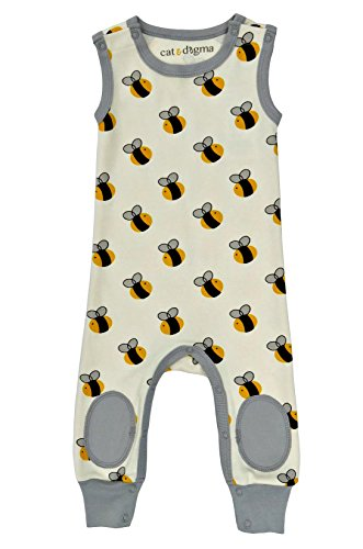 """Cat & Dogma - Certified Organic Infant/Baby Clothing """"Bee"""" Jumper (3-6 Months)"""