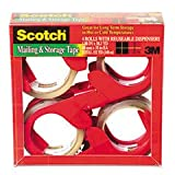 * Moving & Storage Tape, 1.88'' x 38.2 yards, 3'' Core, Clear, 4 Rolls/Pac