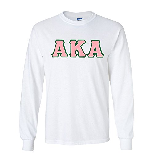Women's Alpha Kappa Alpha Greek Lettered Long-Sleeve T-Shirt Medium White
