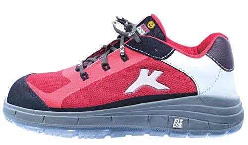 HKS Free 4 - S1 ESD SRC - Damensicherheitsschuhe 42 Rot Rot