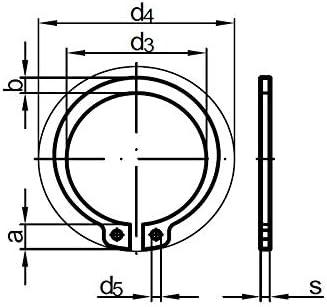 Stahl 50 Stk DIN 471 Sicherungsringe 18