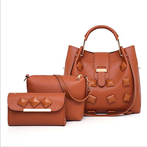 Ladies' Shoulder Bag Piece Three European And DYYTR Fashion American Brown Diagonal Women's Bills wYnP8qxH