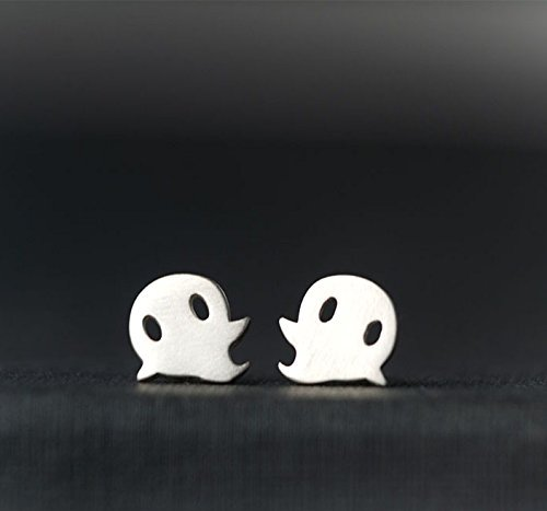 Halloween Earrings Ghost Studs Cute Kids Gift Teen Jewelry Sterling Silver Teen Cute Sweet Halloween Costume Tiny Ghost 0.0011