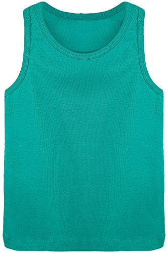 Lilax Girls' Racerback Tank Top 7 Green - Organic Cotton Ribbed Tank