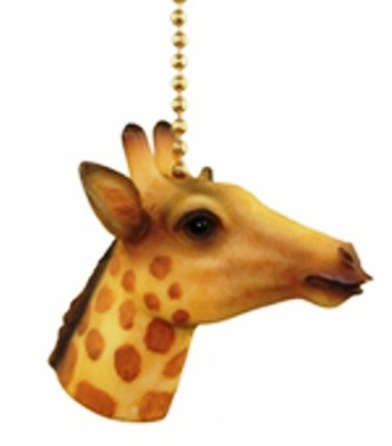 - Jungle Safari Giraffe Kids Nursery Ceiling Fan Light Pull