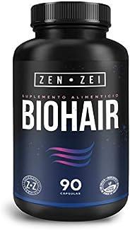 ZZ   BIOHAIR   HAIR, SKIN & NAILS   Suplemento Inteligente 100% Natural — Formulado con 11 Ingredientes pa