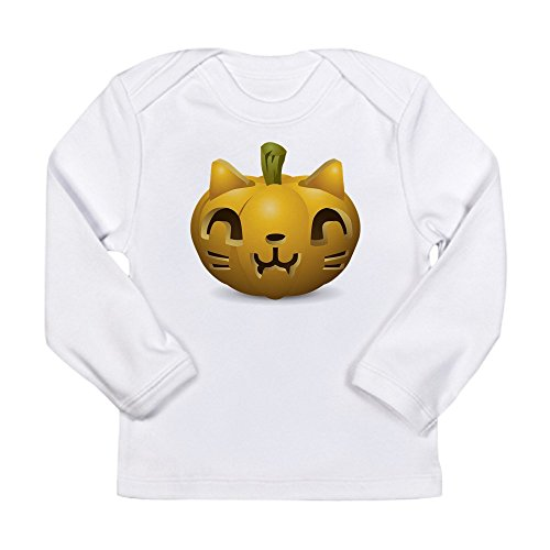 Truly Teague Long Sleeve Infant T-Shirt Kitty Cat Halloween Jack-O-Lantern - Cloud White, 3 To 6 Months]()