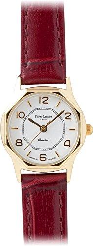 PIERRE LANNIER press watch octagonal Watch Gold / Croco Bordeaux P043504 C56 Ladies