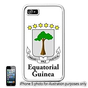 Equatorial Guinea Coat of Arms Flag Apple iPhone 5 Hard Back Case Cover Skin White by runtopwell