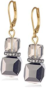 """Kenneth Cole New York """"Springtime Rose"""" Faceted Bead Double Drop Earrings"""