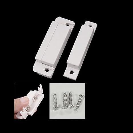 SODIAL(R) Sensor Magnetico Interruptor de Alarma para Puerta Ventana de Casa