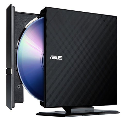 Asus 8X External Slim DVD+/-RW Drive SDRW-08D2S-U - Retail (Black) Ext Burner