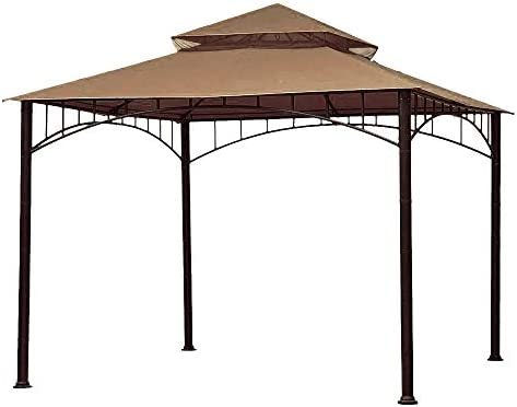 ABCCANOPY Replacement 10 X10 Summer Canopy Soft Top Gazebo Beige with Rip Lock Technology