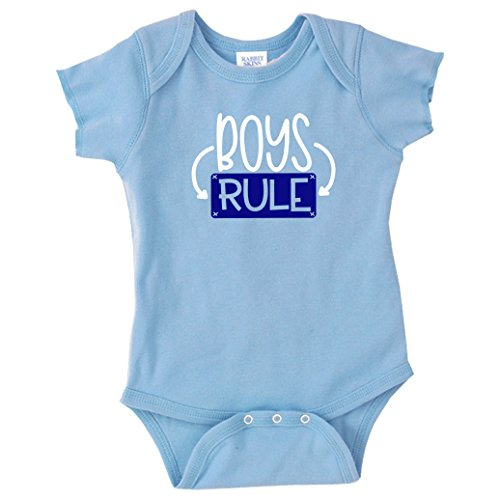 Baby Boy Bodysuit Boys Rule Funny Baby Shower Newborn - Suit Rules
