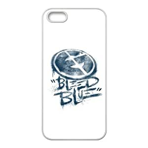 Bleed Blue 1 iPhone 4 4s Cell Phone Case White HX4403987