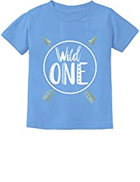 Wild One Baby Boys Girls 1st Birthday Gifts One Year Old Infant Kids T-Shirt 18M California Blue