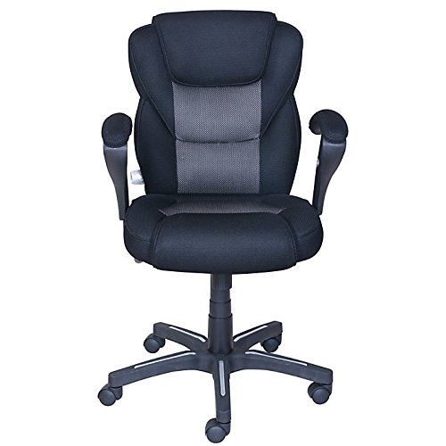 True Innovations Sport Mesh Mid-Back Chair, 40 1/4'H x 24 3/4'W x 26 3/4'D, Gray/Black