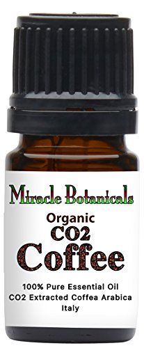 Miracle Botanicals Organic CO2 Extracted Coffee Essential Oil - 100% Thorough Coffea Arabica - Therapeutic Grade 5ml