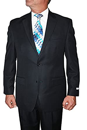 IZOD Men's Single Breasted 2 Button Suit with Pleated Pants at ...