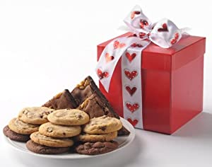 Heart Accented Gourmet Cookie & Brownie Gift by Cornerstone Cookie Gifts Cornerstone Cookie Gifts B004MAJCUS