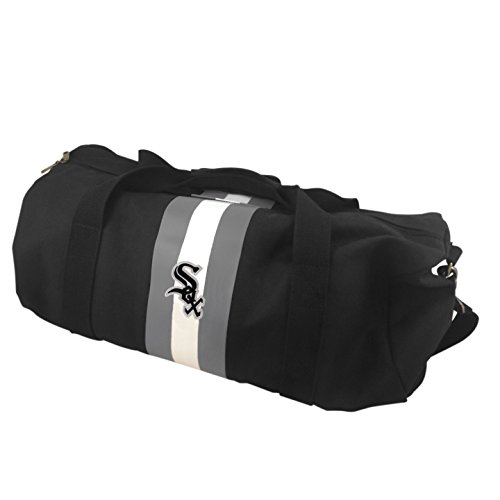 MLB Chicago White Sox Rugby Duffel Bag, Black