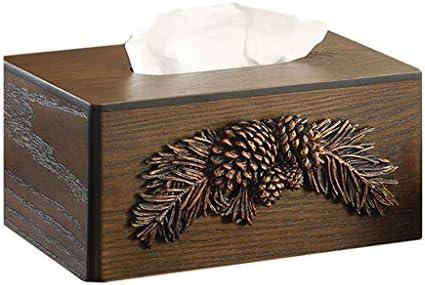 AFQHJ Tissue Box Kreative Bookbox Haushalt Holz Serviette Tablett Chinesische Nette Tissue Box Original-Holz Farbe Tissue Box Cover Gesicht