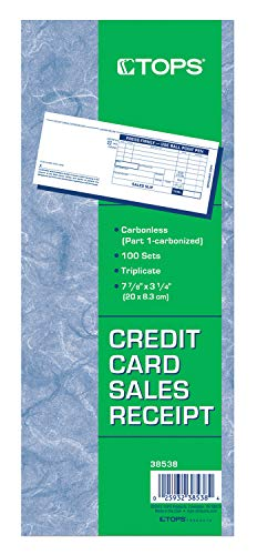 (Adams Credit Card Sales Slip, 3-Part, 100 Sets per Pack (38538))