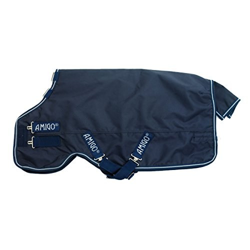 (Amigo by Horseware Heavyweight Turnout Horse Blanket - Color:Navy/Navy Size:66)