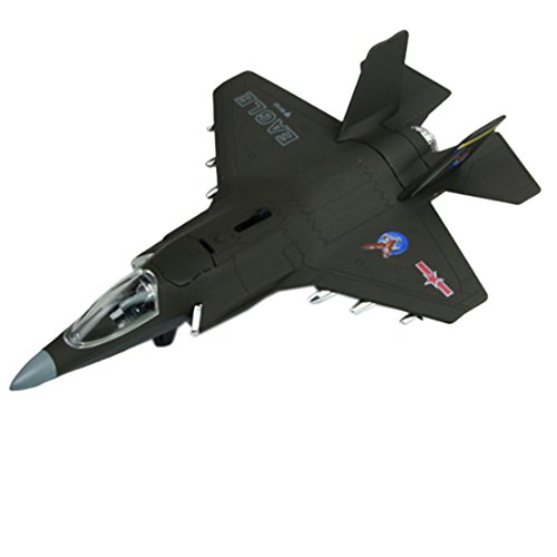 Kid's Toys Mini Alloy Airplane Models, F-35B Stealth Fighter, Random Color (Electric Fighter Jet)