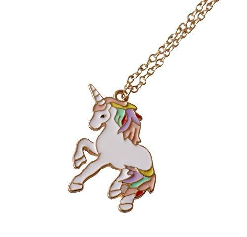 rivenditore all'ingrosso cd23f 2b8fb Collana con ciondolo a forma di unicorno arcobaleno, un regalo perfetto per  le ragazze, per Natale o per il compleanno