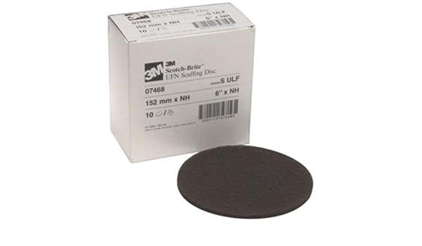 3M Scotch-Brite Disco de desbarbado de carburo de silicio - grado ultra fino - fijación de gancho y bucle - 6 in de diámetro - 4000 Max RPM - 07468 [precio ...