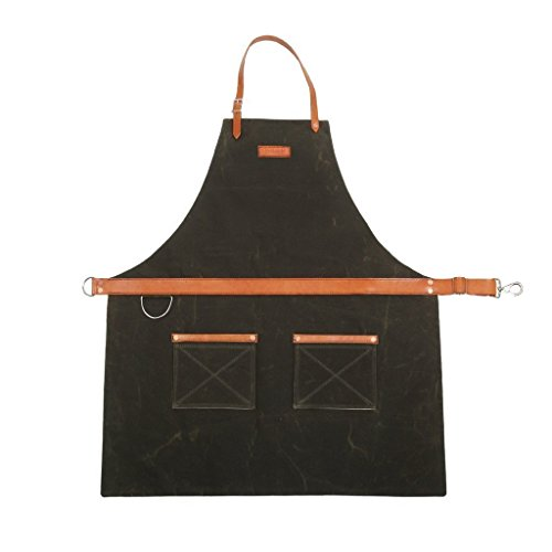 Rugged Apron - Waxed Canvas - Olive - Made in USA