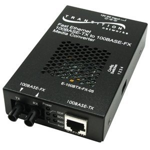 Transition Networks E-100BTX-FX-05(LC) Fast Ethernet Media Converter