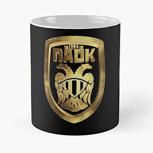 Fc Mug Gold Paok Club Football Waffel-Fr/ühst/ückshaus-s/üdliches Bestseller-Modegeschenk 11 Unze-Kaffeetasse f/ür jeder