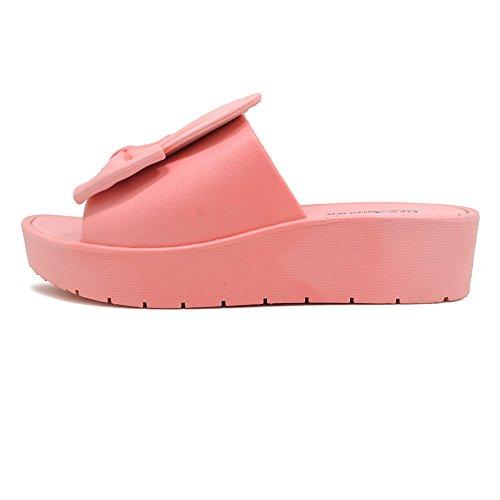 Sandalias Chanclas Chancletas Zapatos Planos Sandalia Flip Flop Polliwoo Corazón Boho Verano Playa Para Mujer Rosa