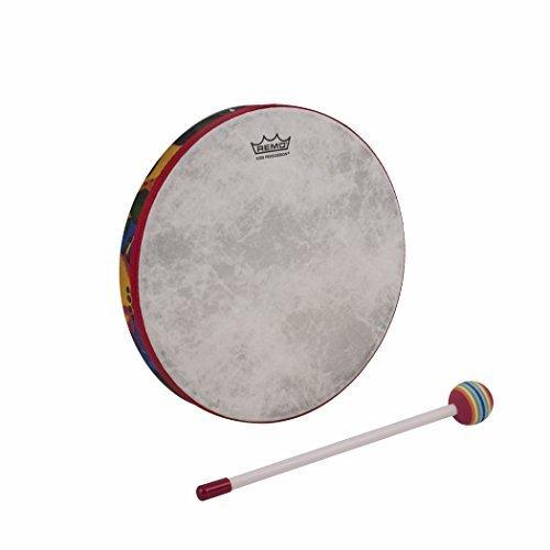 Ocean Tom Drum (Remo Kid's Percussion 14 inch Hand Drum in Rainforest Design (Age 5+))