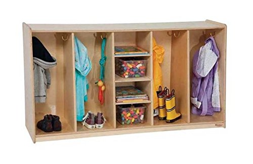 Kid's Play 4-Section Tip-Me-Not Locker by Wood Designs
