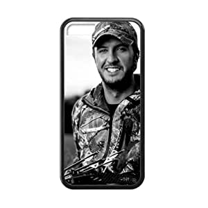 Customized iPhone Case Luke Bryan Country Music Singer Printed Laser Rubber iPhone 5C Case Cover