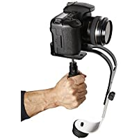 The OFFICIAL ROXANT PRO (Midnight Black Limited Edition With Low Profile Handle) video camera stabilizer for GoPro, Smartphone, Canon, Nikon or any camera up to 2.1 lbs.