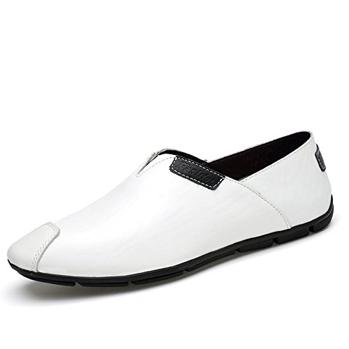 shoes EU Mocassini Casual Casual 39 Bianca Guida Dimensione Mocassini On Meimei Slip Moda Comodi Bianca Color Scarpe Uomo aq1adw