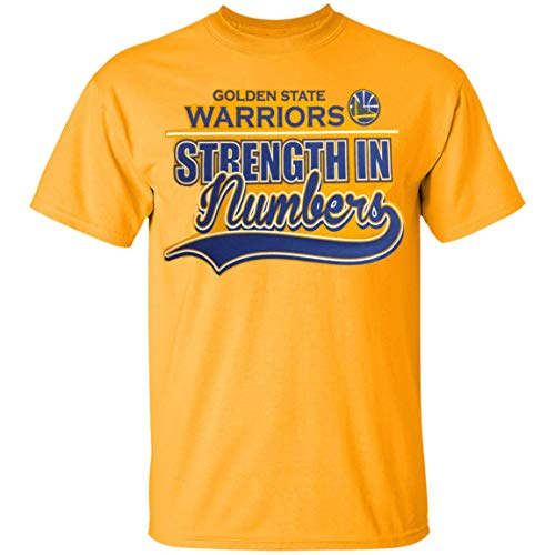 (Outerstuff Golden State Warriors NBA Youth 8-20 Strength in Numbers Yellow Gold Team T-Shirt (Youth Large 14-16))